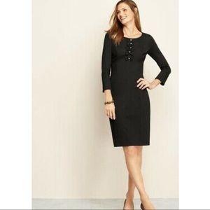 Talbots Black Midi Dress! Size 10!